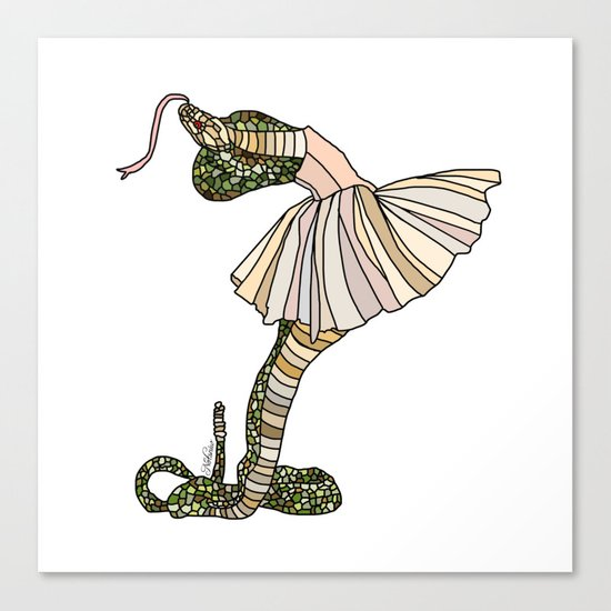 Snake Ballerina Tutu Canvas Print