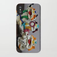 inner demons iPhone & iPod Cases featuring Demons by Milena