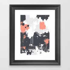 Abstract Paint Pattern 01 Framed Art Print