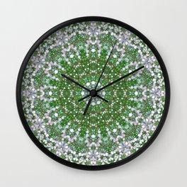 Her Mermaid Sea Kaleido Green Wall Clock