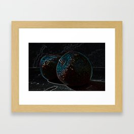 Negative apple Framed Art Print
