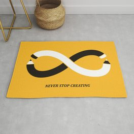 Never stop creating (the infinity pencil) Rug
