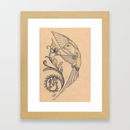 Hum and hibiscus 3 Framed Art Print