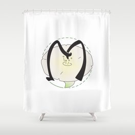 Rubys Flower Initials - M Shower Curtain
