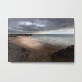 Stormy Three Cliffs Bay Metal Print