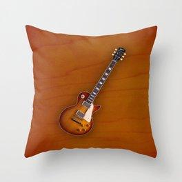 Vintage Gibson Les paul 1959 Throw Pillow
