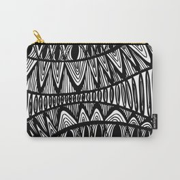 Original Creative black and white pattern illustration Carry-All Pouch