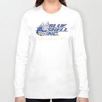 mario kart Long Sleeve T-shirts featuring Mario Kart: Blue Shell Inc. by Macaluso