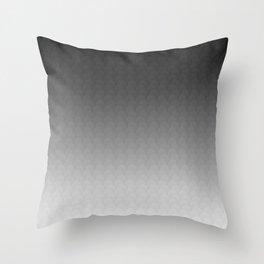 Black Gray White Ombre Gradient Scales Throw Pillow