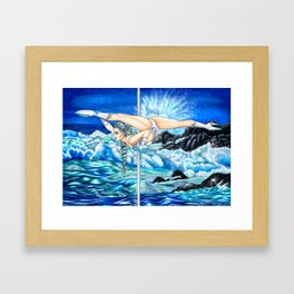 Pole Stars - CANCER Framed Art Print