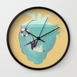 Drowning in love Wall Clock