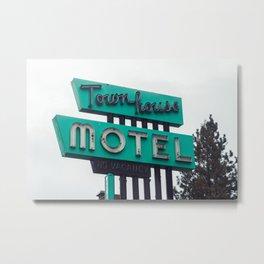 Townhouse Motel - Weed, CA Metal Print