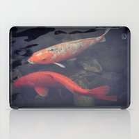 koi fish iPad Cases featuring Koi Fish by KunstFabrik_StaticMovement Manu Jobst