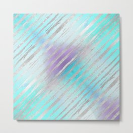 Pastel Tiger Stripes Metal Print