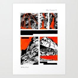 After Wainwright - Grasmoor 16 Art Print