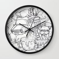 laura palmer Wall Clocks featuring Laura by leaal