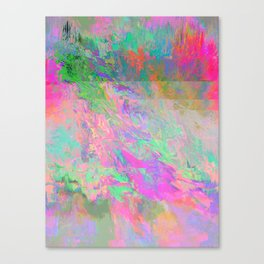 #8304 (pink green rainbow glitch) Canvas Print