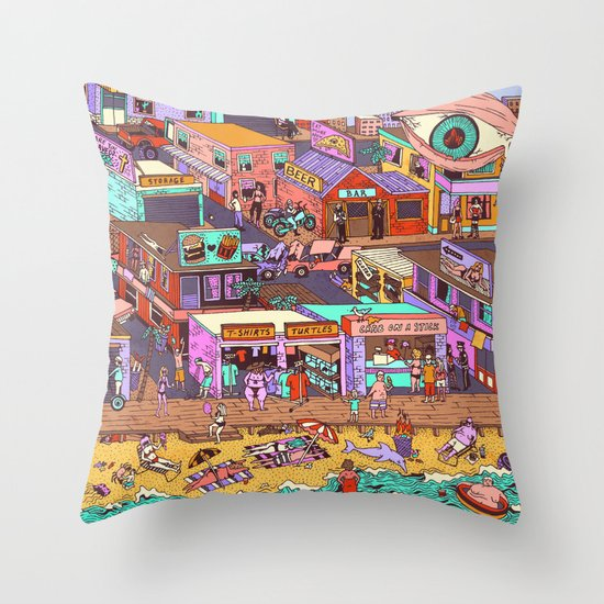 Fried n' Cheesy Throw Pillow