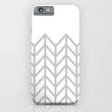 GRAY & WHITE LACE CHEVRON Slim Case iPhone 6s