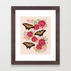 Swallowtail Florals by Andrea Lauren  Framed Art Print