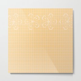 Skin Tone Lace Metal Print