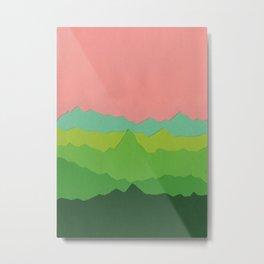 Green Mountains I Metal Print