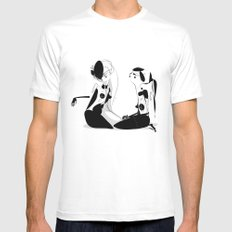 Play - Emilie Record White Mens Fitted Tee MEDIUM