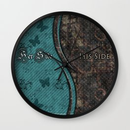 Steampunk His Side Her Side Wall Clock