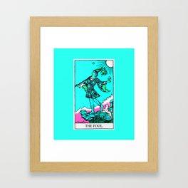 0. The Fool- Neon Dreams Tarot Framed Art Print