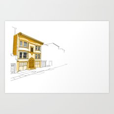 Yellow San Francisco Haus Art Print
