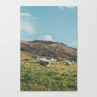iceland Canvas Prints featuring Iceland by Chelle Wootten