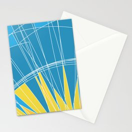 Abstract pattern, digital sunrise illustration Stationery Cards