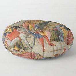 Sano di Pietro - The Adoration of the Magi Floor Pillow