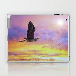 Heron Flying at Sunset Laptop & iPad Skin