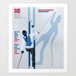 Birkebeinerrennet Birkebeiner Nordic Skiing by Dennis Weber ShreddyStudio Art Print