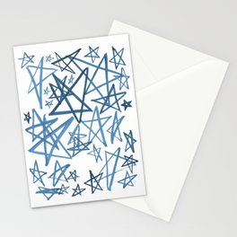 Helping Stars Blue Stationery Cards