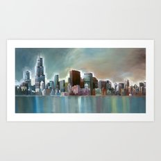 Chicago At Noon Art Print
