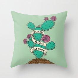 Ni Santas, Ni Putas, Solo Mujeres Gallery Print Throw Pillow