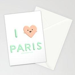 I Heart Paris I Love Paris Stationery Cards