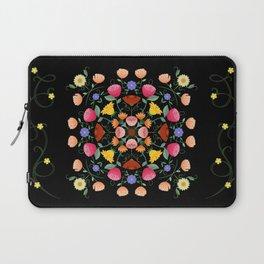 Folk Art Inspired Garden Of Fantastic Floral Delight Laptop Sleeve