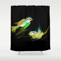 weed Shower Curtains featuring weed by tatiana-teni