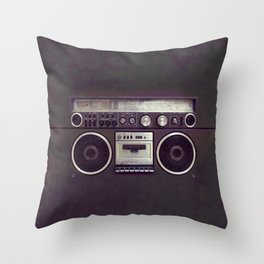 Retro Boombox Throw Pillow