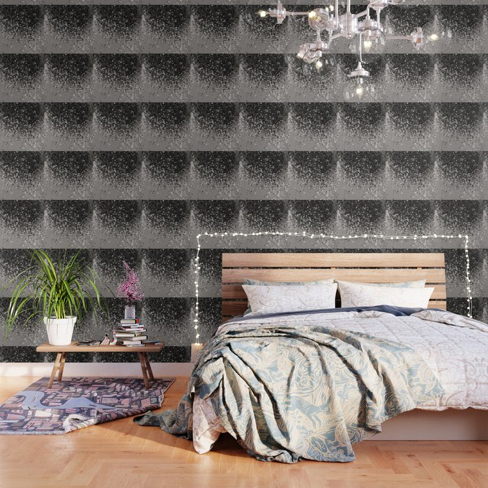 Silver Gray Glitter #1 #shiny #decor #art #society6 Wallpaper