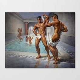Bathhouse Boys Canvas Print