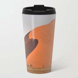 The red sand dunes of Sossusvlei desert, Namibia Travel Mug