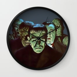 Famous Monsters Gang Wall Clock