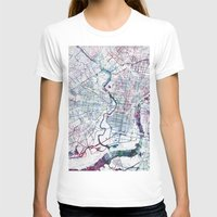 philadelphia T-shirts featuring Philadelphia map by MapMapMaps.Watercolors