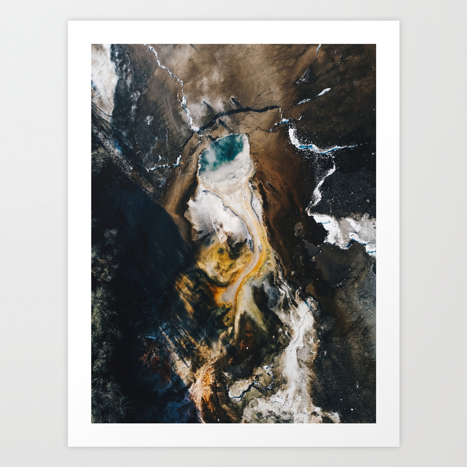 Volcan Sperm Aerial Wall Art Volcanic Print Colorful Drone Photography Aerial New Zealand Art Print By Serenacoady Society6