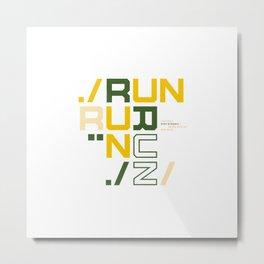 Runners design | Runners gift Metal Print