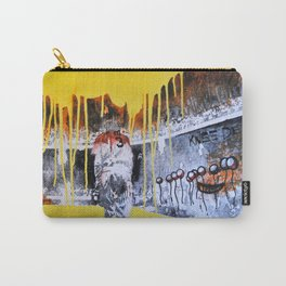 Mixed Media Art Yellow Rain Carry-All Pouch